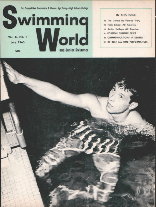 Swimming World Magazine July 1965 Issue- PDF ONLY - Cover