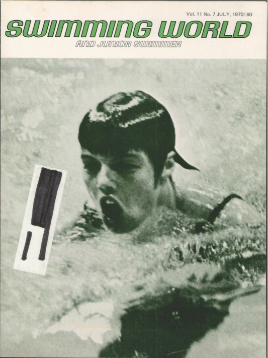 Swimming World Magazine July 1970 Issue- PDF ONLY - Cover