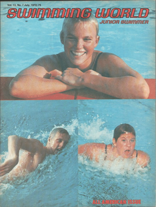 Swimming World Magazine July 1972 Issue- PDF ONLY - Cover
