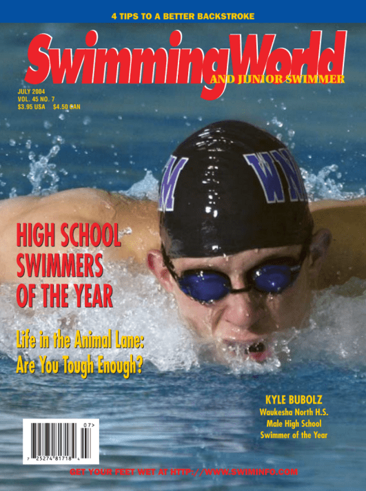 Swimming World Magazine July 2004 Issue- PDF ONLY - Cover