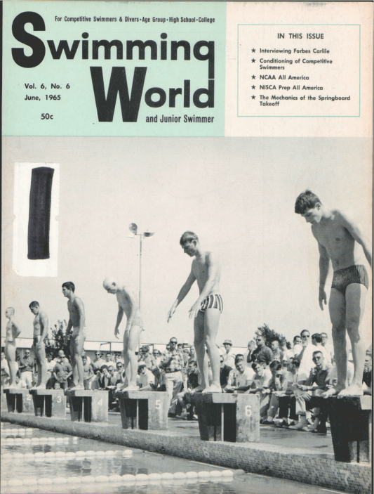 Swimming World Magazine June 1965 Issue- PDF ONLY - Cover
