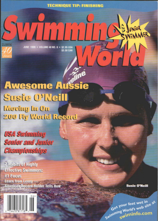 Swimming World Magazine June 1999 Issue- PDF ONLY - Cover