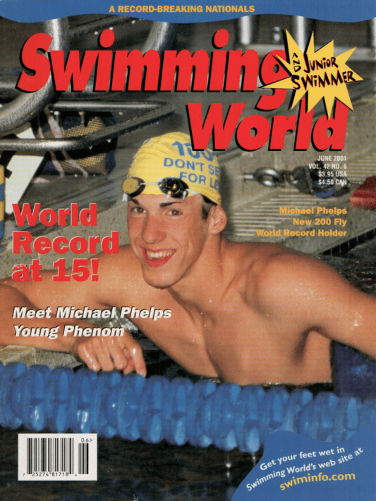 Swimming World Magazine June 2001 Issue- PDF ONLY - Cover