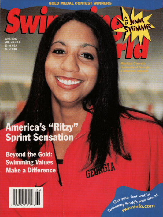 Swimming World Magazine June 2002 Issue- PDF ONLY - Cover