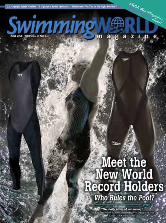 Swimming World Magazine June 2008 Issue- PDF ONLY - Cover