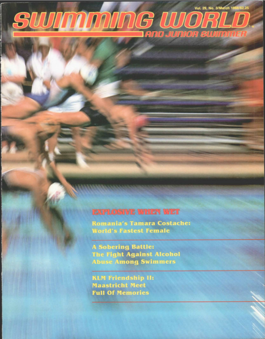 Swimming World Magazine March 1988 Issue- PDF ONLY - Cover