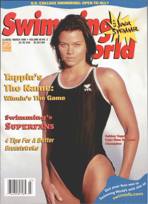 Swimming World Magazine March 1999 Issue- PDF ONLY - Cover