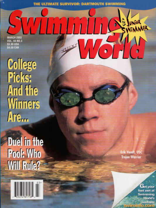 Swimming World Magazine March 2003 Issue- PDF ONLY - Cover