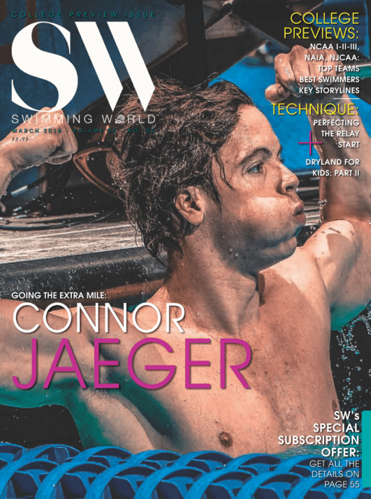Swimming World Magazine March 2014 Issue- PDF ONLY - Cover