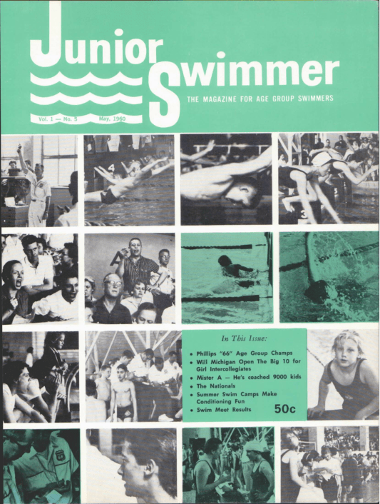 Swimming World Magazine May 1960 Issue- PDF ONLY - Cover