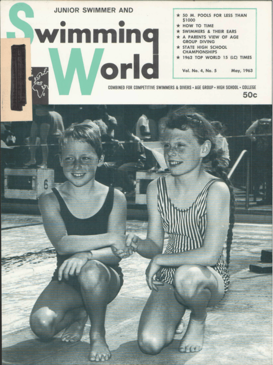 Swimming World Magazine May 1963 Issue- PDF ONLY - Cover