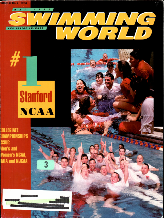 Swimming World Magazine May 1992 Issue- PDF ONLY - Cover