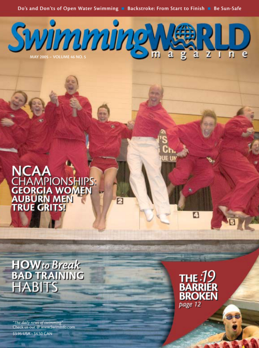 Swimming World Magazine May 2005 Issue- PDF ONLY - Cover