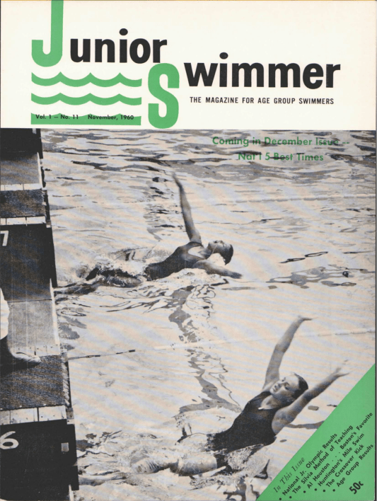Swimming World Magazine November 1960 Issue- PDF ONLY - Cover
