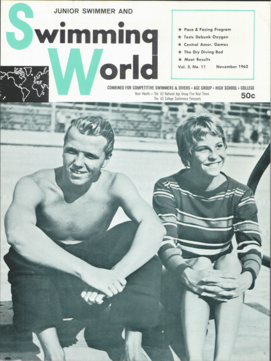 Swimming World Magazine November 1962 Issue- PDF ONLY - Cover