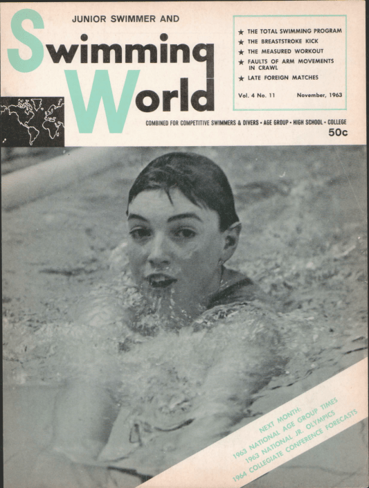 Swimming World Magazine November 1963 Issue- PDF ONLY - Cover