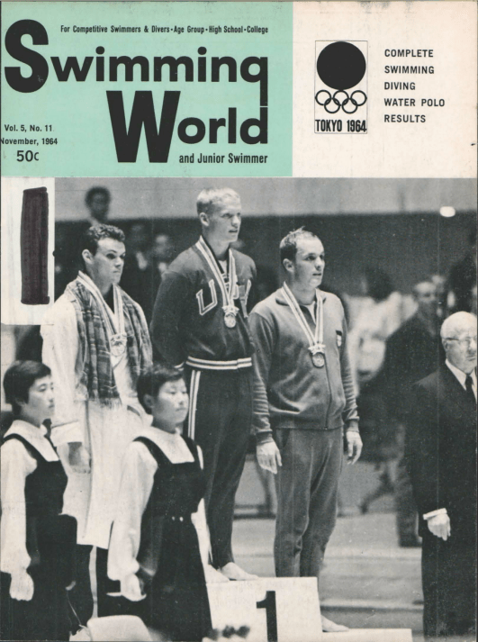 Swimming World Magazine November 1964 Issue- PDF ONLY - Cover