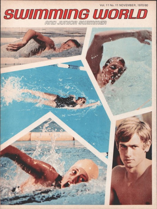 Swimming World Magazine November 1970 Issue- PDF ONLY - Cover