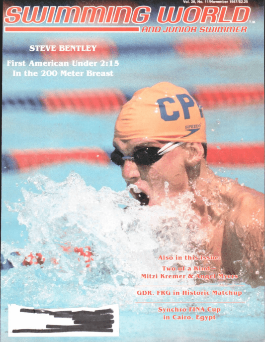 Swimming World Magazine November 1987 Issue- PDF ONLY - Cover