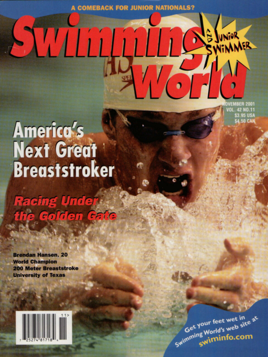 Swimming World Magazine November 2001 Issue- PDF ONLY - Cover