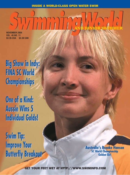Swimming World Magazine November 2004 Issue- PDF ONLY - Cover