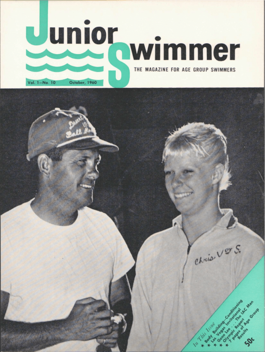 Swimming World Magazine October 1960 Issue- PDF ONLY - Cover