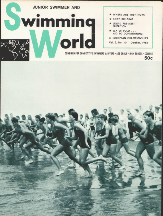 Swimming World Magazine October 1962 Issue- PDF ONLY - Cover