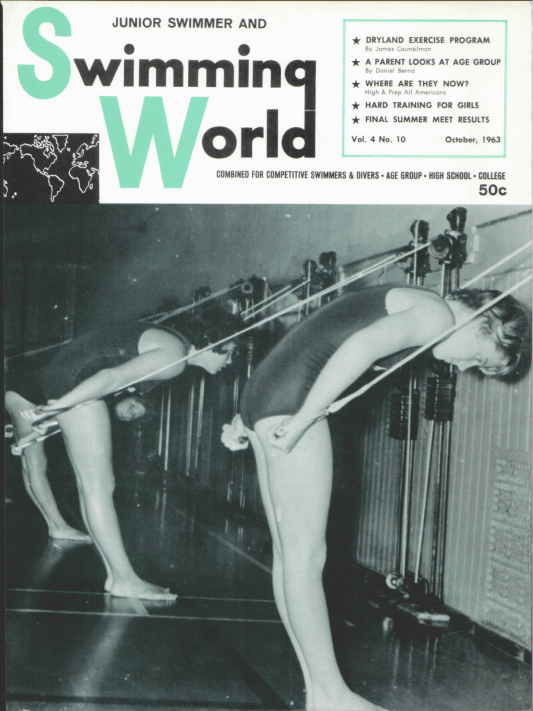 Swimming World Magazine October 1963 Issue- PDF ONLY - Cover