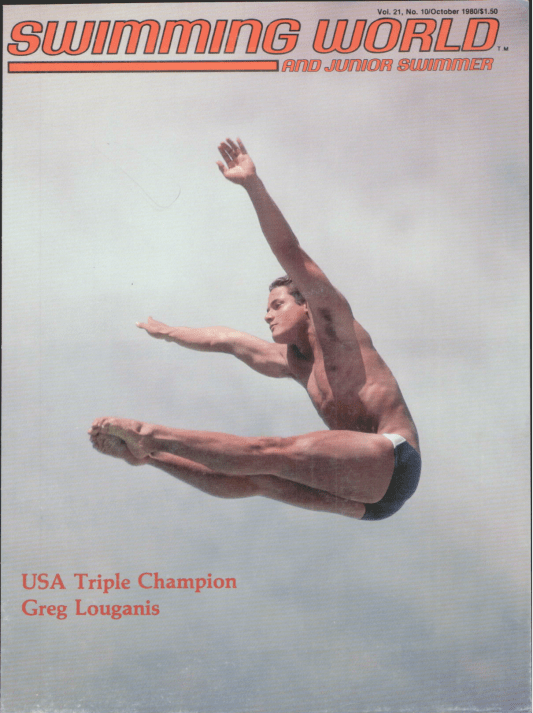 Swimming World Magazine October 1980 Issue- PDF ONLY - Cover