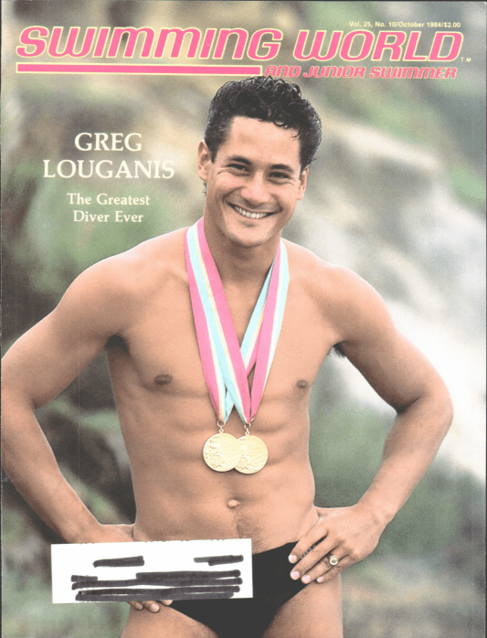 Swimming World Magazine October 1984 Issue- PDF ONLY - Cover