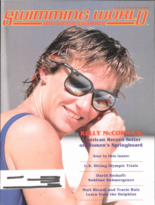 Swimming World Magazine October 1988 Issue- PDF ONLY - Cover