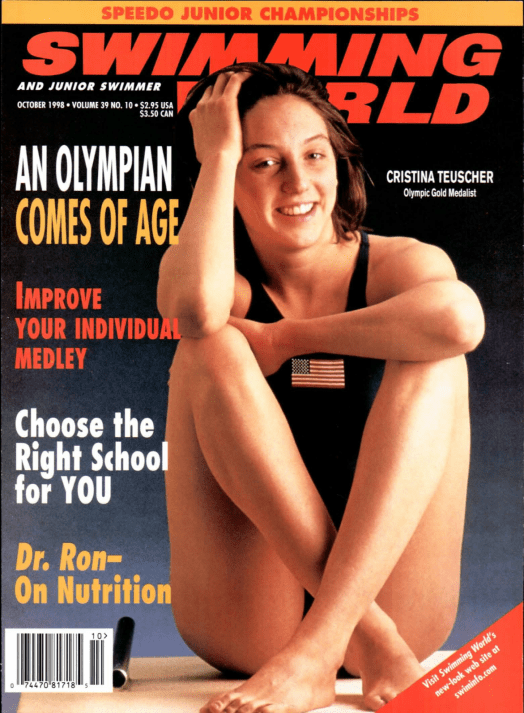 Swimming World Magazine October 1998 Issue- PDF ONLY - Cover