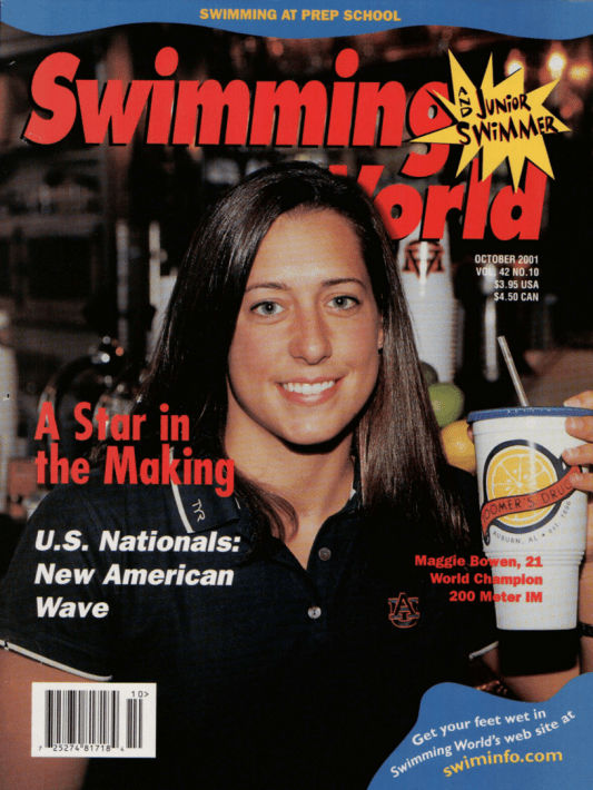 Swimming World Magazine October 2001 Issue- PDF ONLY - Cover
