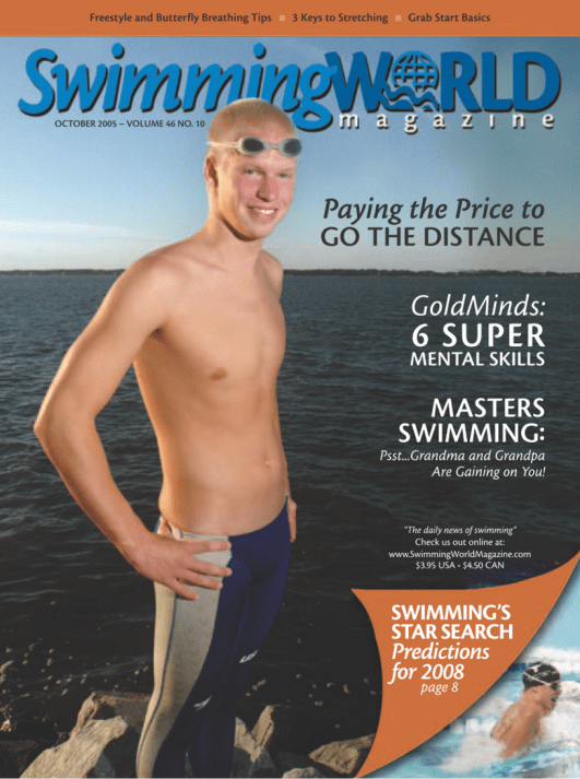 Swimming World Magazine October 2005 Issue- PDF ONLY - Cover