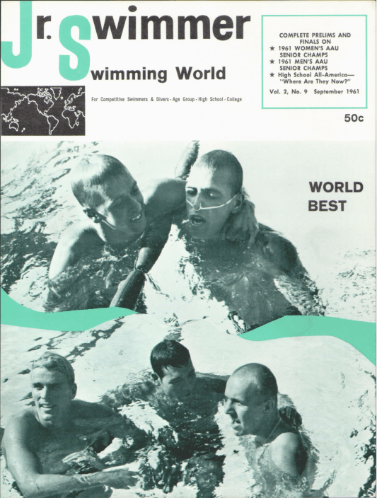 Swimming World Magazine September 1961 Issue- PDF ONLY - Cover