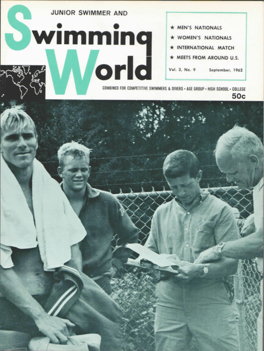 Swimming World Magazine September 1962 Issue- PDF ONLY - Cover