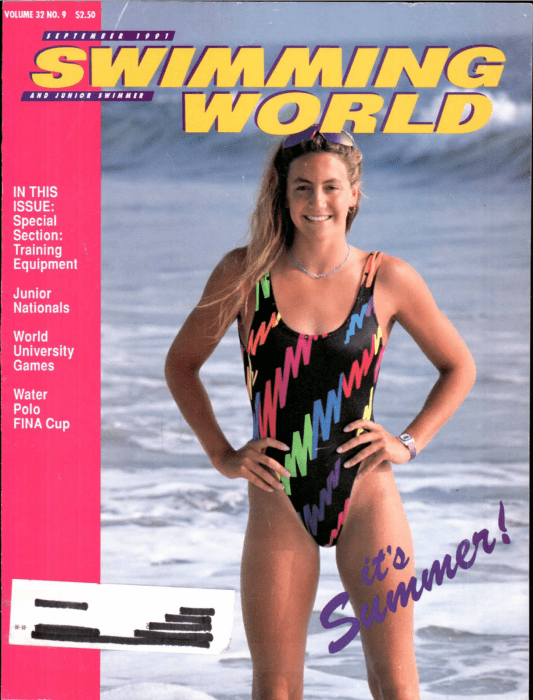 Swimming World Magazine September 1991 Issue- PDF ONLY - Cover