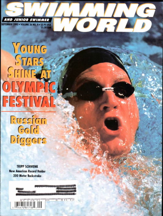 Swimming World Magazine September 1995 Issue- PDF ONLY - Cover