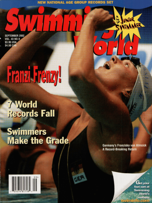 Swimming World Magazine September 2002 Issue- PDF ONLY - Cover