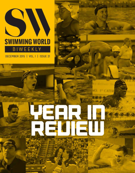 Swimming World Biweekly: 2015 Swimming Year In Review - Cover