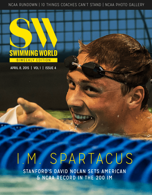 Swimming World Biweekly: Recaps NCAA Championships - Cover