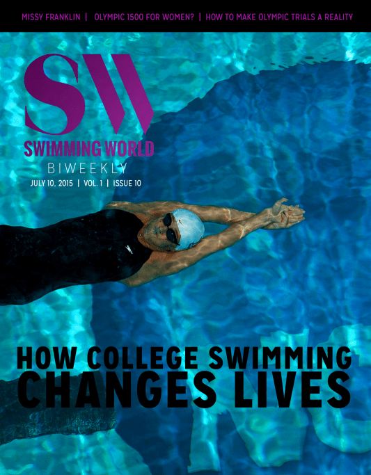 Swimming World Biweekly: How College Swimming Changes Lives - Cover