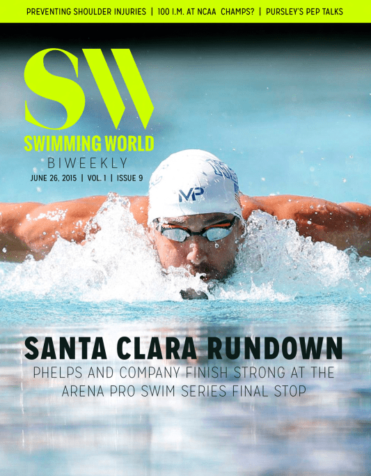 Swimming World Biweekly: Pro AM Wrap, Injury Prevention, Masters, And More - Cover