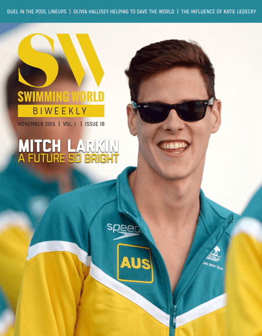Swimming World Biweekly: The Future Is Bright For Mitch Larkin - Cover