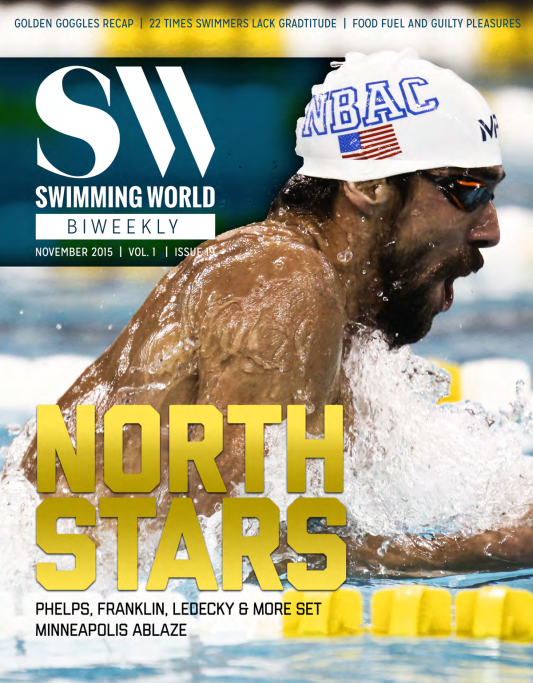 Swimming World Biweekly: Golden Goggles, Arena Pro Am, Gratitude And Guilt - Cover