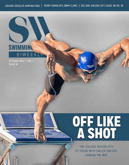 Swimming World Biweekly: College Season Off Like A Shot! - Cover