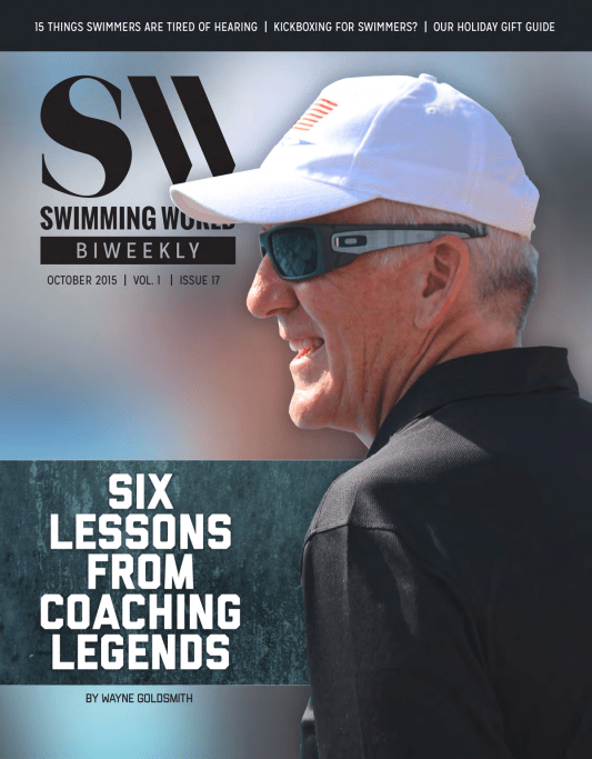 Swimming World Biweekly: Lessons From Coaching Legends Revealed! - Cover