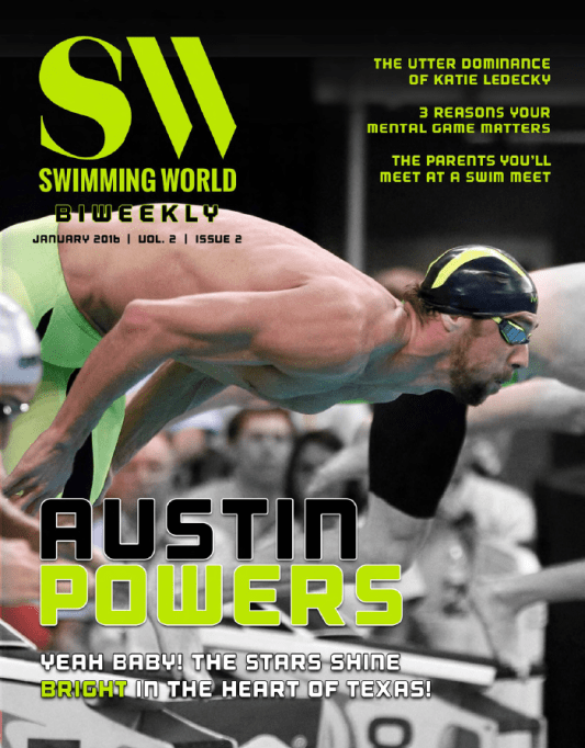 Swimming World Biweekly: Austin Powers-Yeah Baby! The Stars Shine Bright In Texas! - Cover