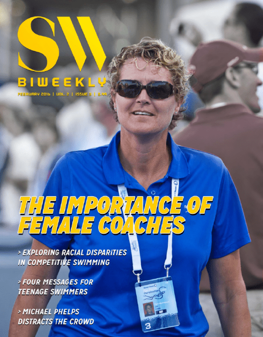 Swimming World Biweekly: The Importance of Female Coaches - Cover