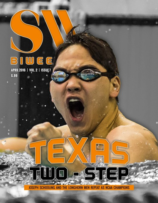 Swimming World Biweekly: Texas Two- Step - Cover
